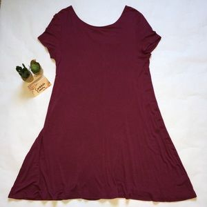 Spring Stretchy Super Soft T-Shirt Dress Large